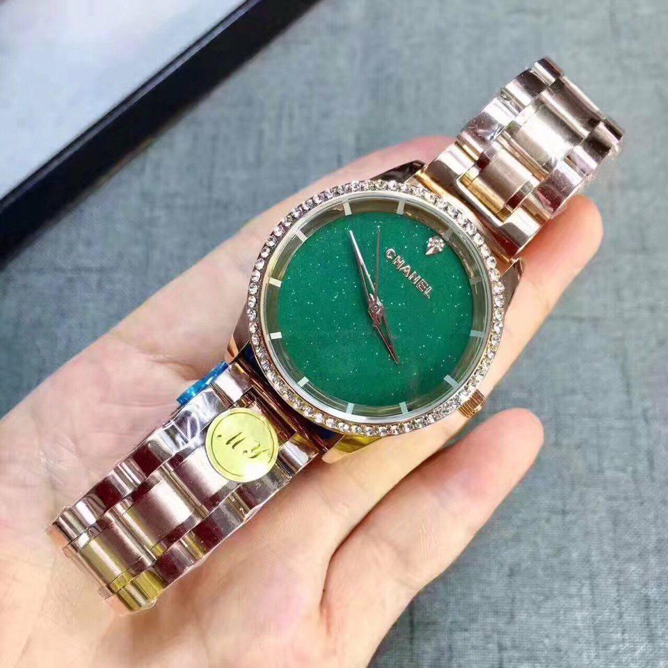 Đồng hồ nữ Chanel viền đá sang trọng cao cấp