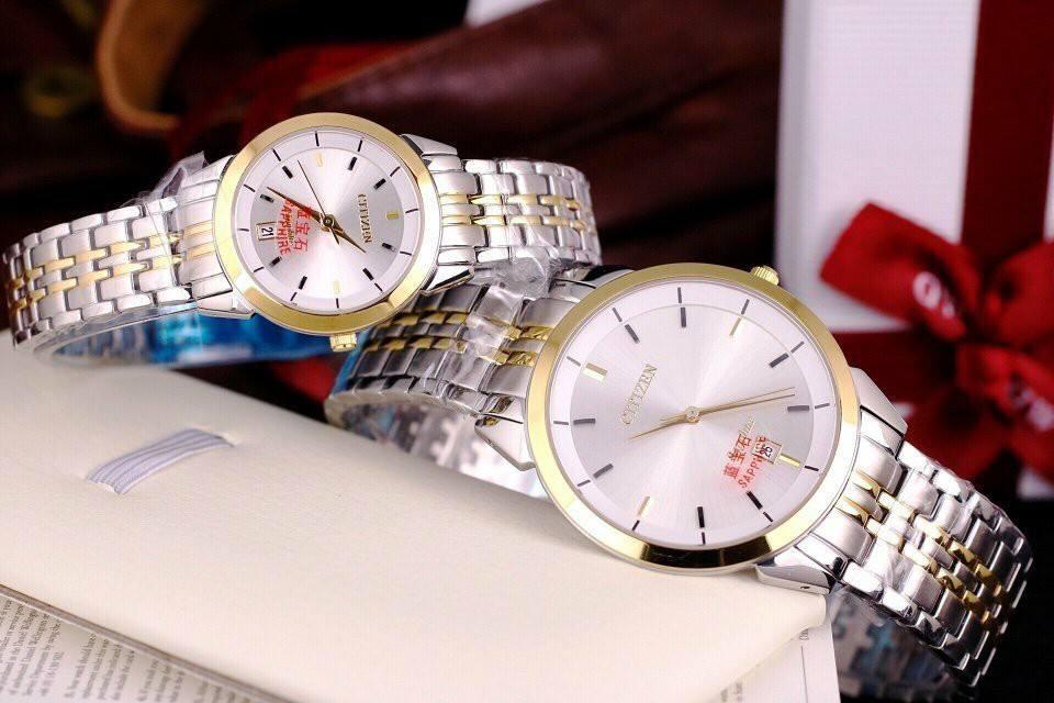 Đồng hồ đôi Citizen thời trang cao cấp