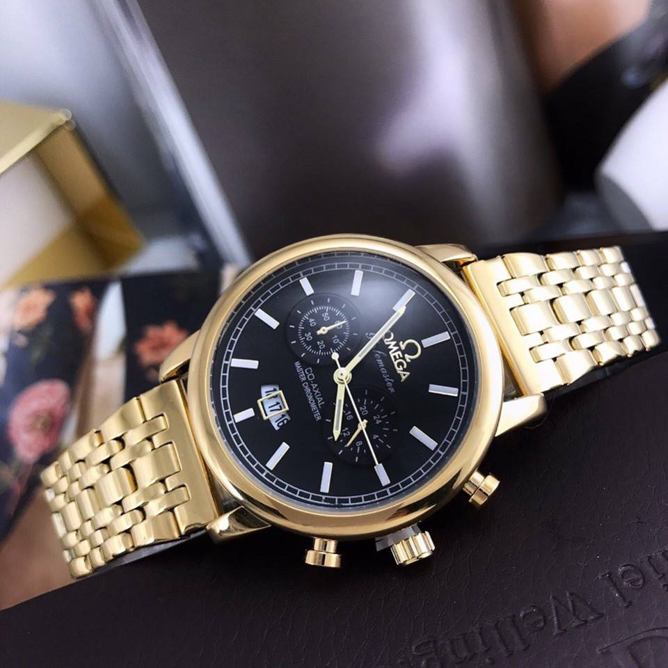 Đồng hồ nam Omega mặt đá sapphire chống trầy xướt cực tốt