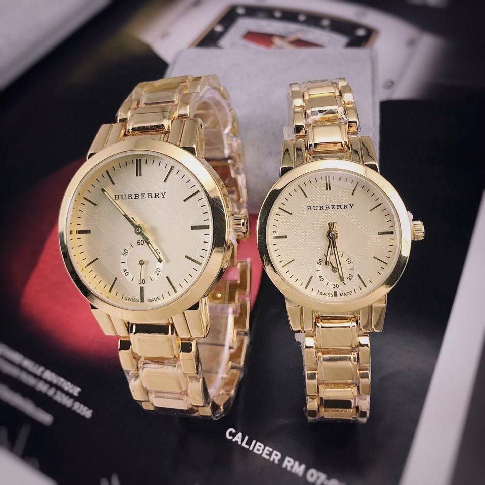 Đồng hồ đôi Burberry thời trang cao cấp