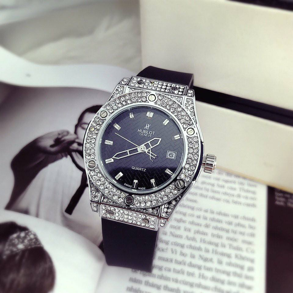 Đồng hồ nữ Hublot viền đá thời trang cao cấp