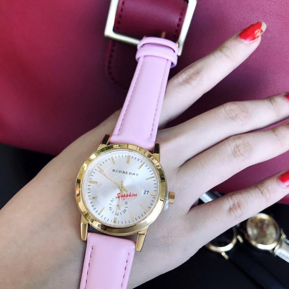 Đồng hồ nữ dây da bền giá rẻ