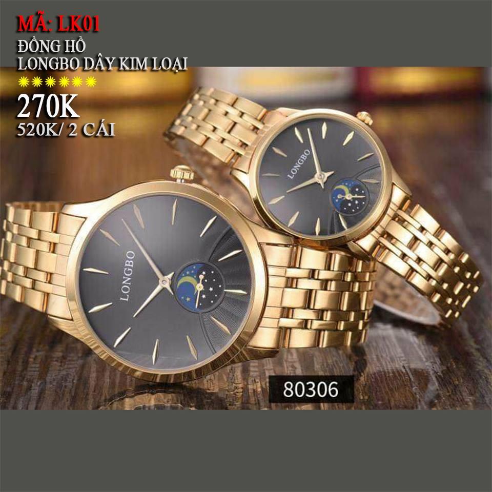đồng hồ đôi dây kim loại giá rẻ