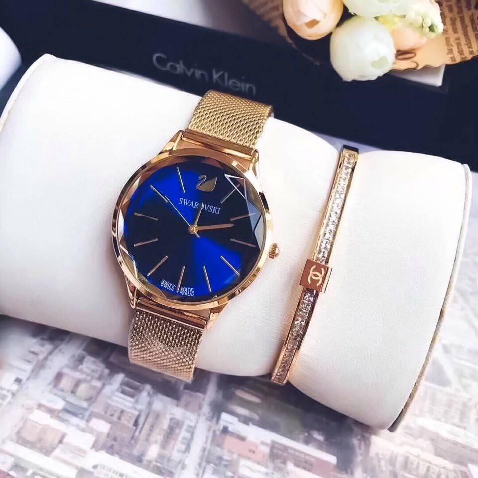 Đồng hồ nữ mặt đá pha lê thời trang