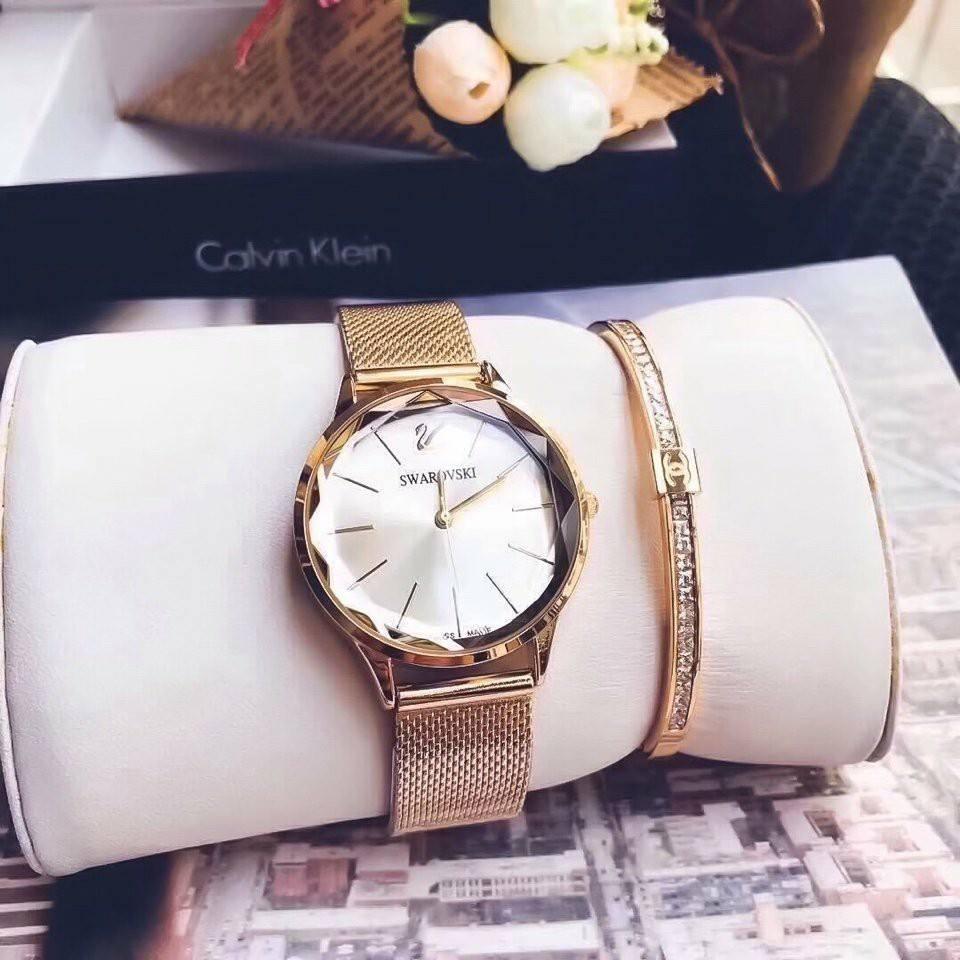 Đồng hồ nữ mặt đá pha lê nổi bật cao cấp