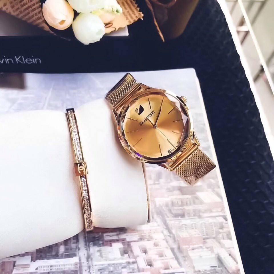 Đồng hồ nữ dây lưới cao cấp