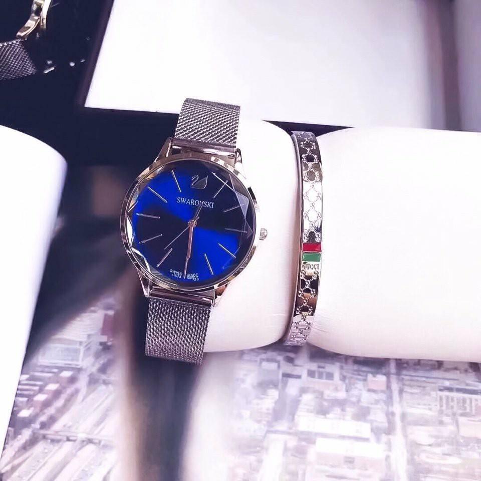 Đồng hồ nữ Swarovski mặt đá pha lê