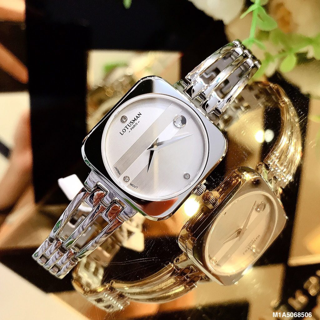 Đồng hồ Lotusman nữ mặt vuông dây lắc chính hãng