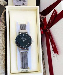 đồng hồ dw nữ dây kim loại