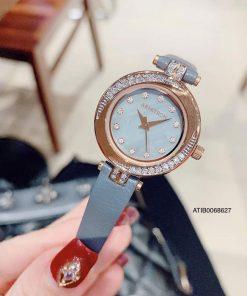 Đồng hồ Armitron Nữ Mặt Viền đá Dây da Chính Hãng