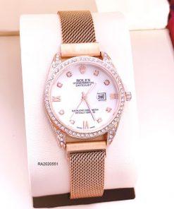 Đồng Hồ Rolex Nữ Dây Lưới Đính Đá