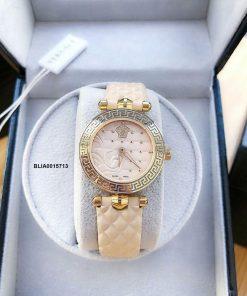 Đồng hồ Versace Nữ mặt Mini dây da siêu cấp