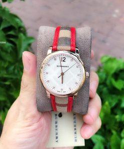 Đồng hồ burberry nữ dây da cao cấp
