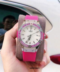 Đồng hồ Hublot Geneve 582888 Collection Nữ dây màu đỏ siêu cấp
