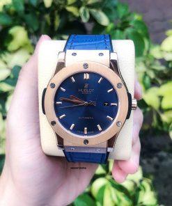 Đồng hồ Hublot Genever Nam máy cơ tự động Cao Cấp Xanh Blue