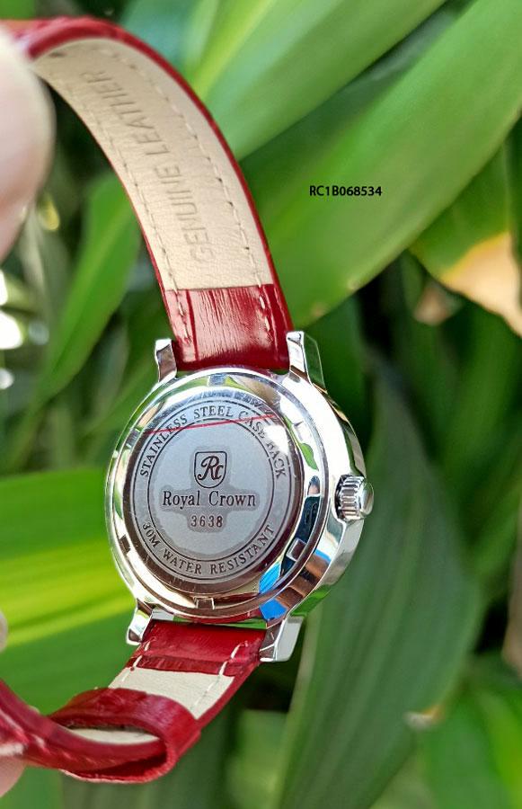 Đồng hồ royal crown nữ dây da chính hãng