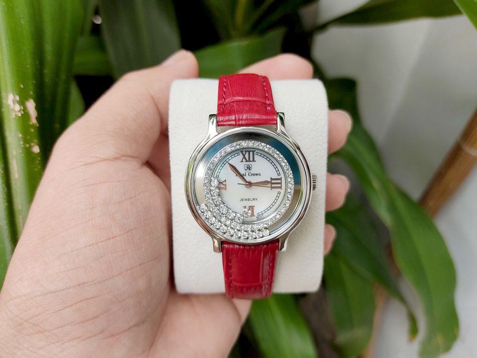 Đồng hồ royal crown 3638 dây da chính hãng
