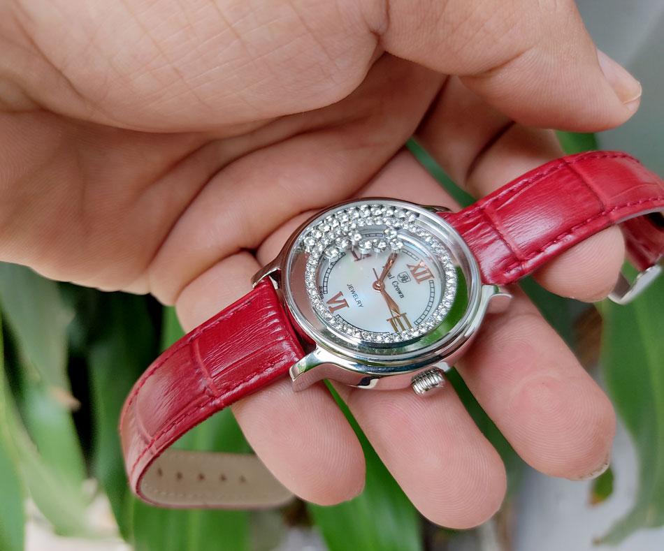 Đồng hồ royl crown 3638 dây da chính hãng