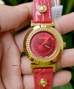 mẫu đồng hồ versace nữ màu đỏ giá rẻ tphcm
