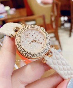 Đồng hồ Versace Nữ dây thép không gỉ mạ pvd siêu cấp