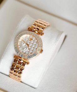 Đồng hồ Versace Nữ mặt Mini dây thép không gỉ siêu cấp