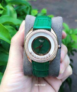 Đồng hồ Chopard Happy Sport Nữ Replica 1:1 dây da cá sấu