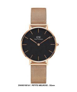 Đồng hồ Daniel Wellington nữ classic petite melrose DW00100161 Rose gold black 32mm