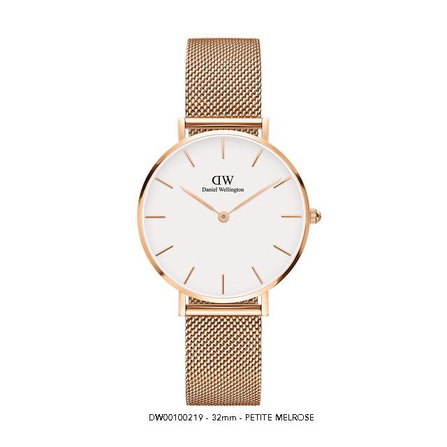 Đồng hồ Daniel wellington nữ DW00100163 Classic petite melrose rose gold white 32mm