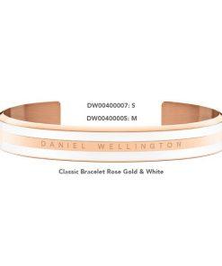 Cuff Dw Unisex Classic Bracelet Rose Gold & White 1:1