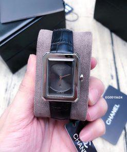 Đồng hồ Chanel Nữ mặt vuông siêu cấp dây màu đen giá rẻ