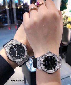 Đồng hồ Cặp Hublot Genever Chronograph 582888 Siêu Cấp đính đá full viền