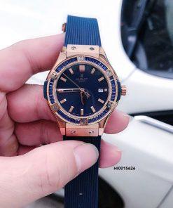 Đồng hồ Hublot Geneve Chronograph 582888 Nữ Dây Xanh Blue