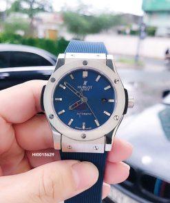Đồng hồ Hublot Genever Nam máy cơ Automatic cao cấp dây xanh