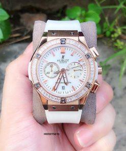 Đồng hồ Hublot Geneve 582888 Unisex dây trắng siêu cấp