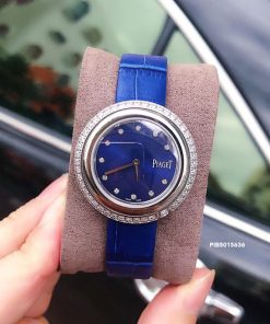 Đồng Hồ nữ Piaget Possession Replica 1:1 dây xanh mặt đính đá full viền
