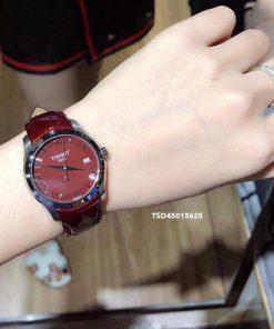 Đồng hồ Tissot Nữ cao cấp dây đỏ đô cực đẹp giá rẻ dưới 2 triệu