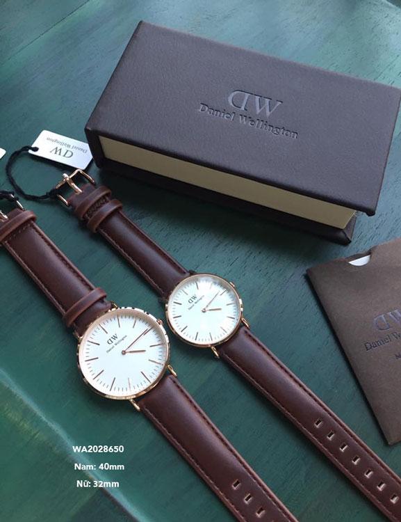 Đồng hồ Daniel Welling Cặp dây da thời trang cao cấp