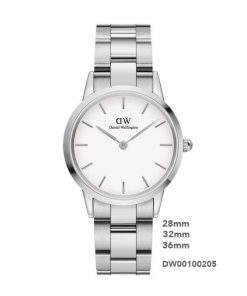 Đồng hồ Daniel Wellington Nữ iconic link Silver-28-32-38-White