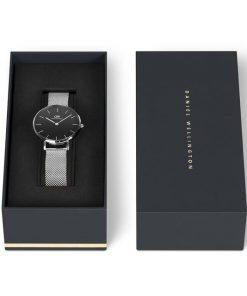Đồng hồ Daniel Wellington Classic Petite Sterling Silver Black