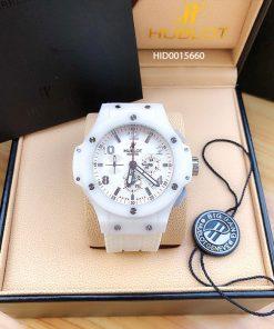 Đồng hồ hublot siêu cấp dây màu trắng giá rẻ 300k
