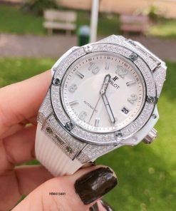 Đồng hồ hublot Big Bang Unisex máy cơ Automatic viền đính đá