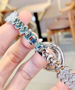 Đồng hồ Royal Crown 4610 nữ viền đính đá