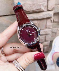 Đồng hồ tissot nữ dây da cao cấp màu nho cực đẹp