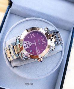 Đồng hồ Chopard Happy Sport dây kim loại mặt xanh Replica 1.1