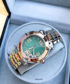 Đồng hồ Chopard Happy Sport dây kim loại mặt nâu Replica 1.1