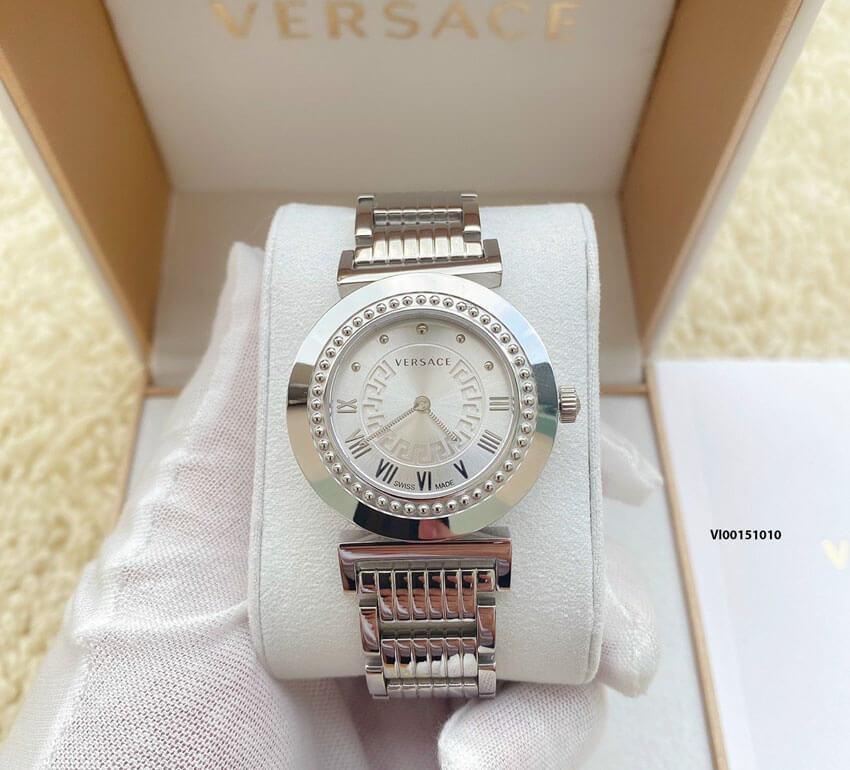 đồng hồ versace nữ dây kim giá rẻ, đồng hồ cao cấp