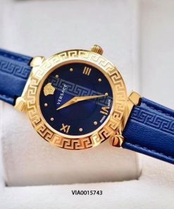 Đồng hồ Versace nữ dây da xanh cao cấp