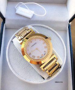 Đồng hồ Versace Vanitas Nữ dây kim loại vàng cao cấp