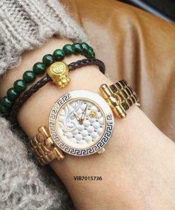 Đồng hồ Versace Nữ dây kim loại vàng cao cấp