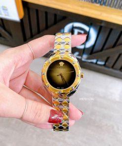 Đồng hồ Versace Shadov dây kim loại vàng cao cấp mặt đen